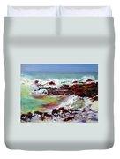 Pahoehoe Winter Surf Duvet Cover