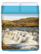 Paine River Waterfall Duvet Cover