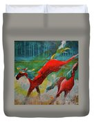 Pained Ponies - The Kick Duvet Cover