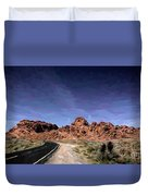 Paint Mixed Valley Of Fire Landscape  Duvet Cover