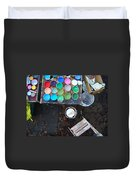 Paint Pots Duvet Cover