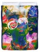 Paint Splash Pinup Art Duvet Cover