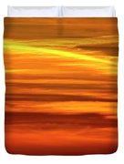 Paint The Sky Gold Duvet Cover
