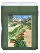 Paintbrush Trail Duvet Cover