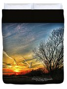 Painted Autumn Sunset Duvet Cover