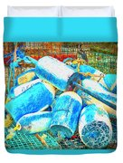 Painted Buoys Duvet Cover