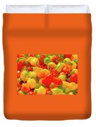 Painted Chilies Duvet Cover
