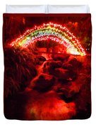 Painted Christmas Waterfall Duvet Cover