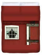 Painted Curtains Duvet Cover