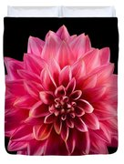 Painted Dahlia Duvet Cover by Mary Jo Allen
