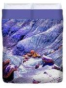 Painted Desert With Petrified Wood - Arizona Duvet Cover