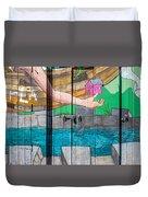 Painted Door Duvet Cover