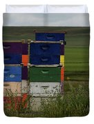 Painted Hives Duvet Cover