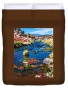 Painted Hot Creek Springs Duvet Cover