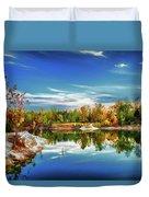 Painted Klondike Autumn Duvet Cover