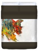 Painted Leaf Abstract 1 Duvet Cover