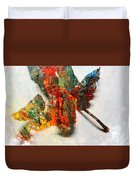 Painted Leaf Abstract 2 Duvet Cover