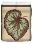 Painted Leaf Begonia Duvet Cover