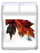 Painted Leaf Series 3 Duvet Cover