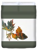 Painted Leaves Abstract 1 Duvet Cover