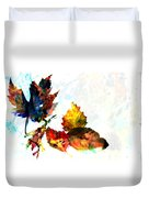Painted Leaves Abstract 2 Duvet Cover
