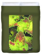 Painted Leaves Duvet Cover