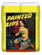 Painted Lips Duvet Cover