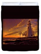 Painted Marblehead Lighthouse Duvet Cover