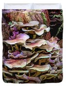 Painted Mushrooms Duvet Cover