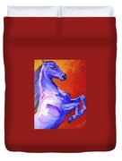 Painted Mustang Duvet Cover