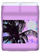 Painted Palms 4 Duvet Cover