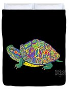 Painted Peace Turtle Too Duvet Cover