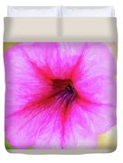Painted Petunia 344 Duvet Cover