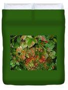 Painted Plants Duvet Cover
