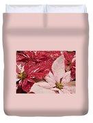 Painted Poinsettias Duvet Cover