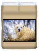 Painted Polar Bear  Duvet Cover