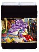 Painted Purple Pony Duvet Cover