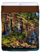 Painted Rock - Flathead Lake Duvet Cover