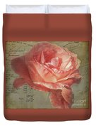Painted Rose Duvet Cover