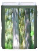 Painted Streaked Trees Duvet Cover
