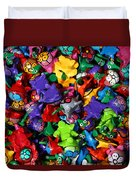 Painted Toys Duvet Cover