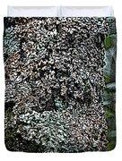 Painted Treebark Woodcut Duvet Cover