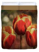 Painted Tulips Duvet Cover by Richard Ricci