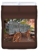 Painted Wagon Duvet Cover