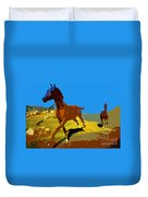 Painted War Horses Duvet Cover