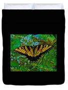 Painted Yellow Swallowtail Duvet Cover