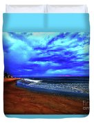 Painterly Beach Scene Duvet Cover