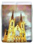 Painterly Church Duvet Cover