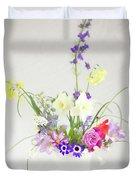 Painterly Homegrown Floral Bouquet Duvet Cover