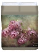 Painterly Lilac Blossom Photograph Duvet Cover